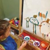 Drawings on the Fridge Door