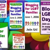 Lesbian Family and past Blogging for LGBT Families Days