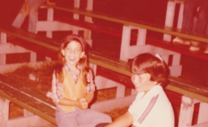 Me and a boy named Jack roller skating. I wasn't out yet, but the leather vest and plaid shirt are foreshadowing.