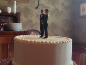 Two Grooms Cake Top