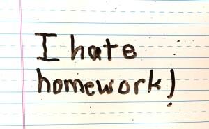 i hate homework copy