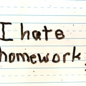 Winning the homework wars