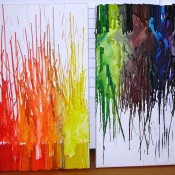 DIY: melted crayon art