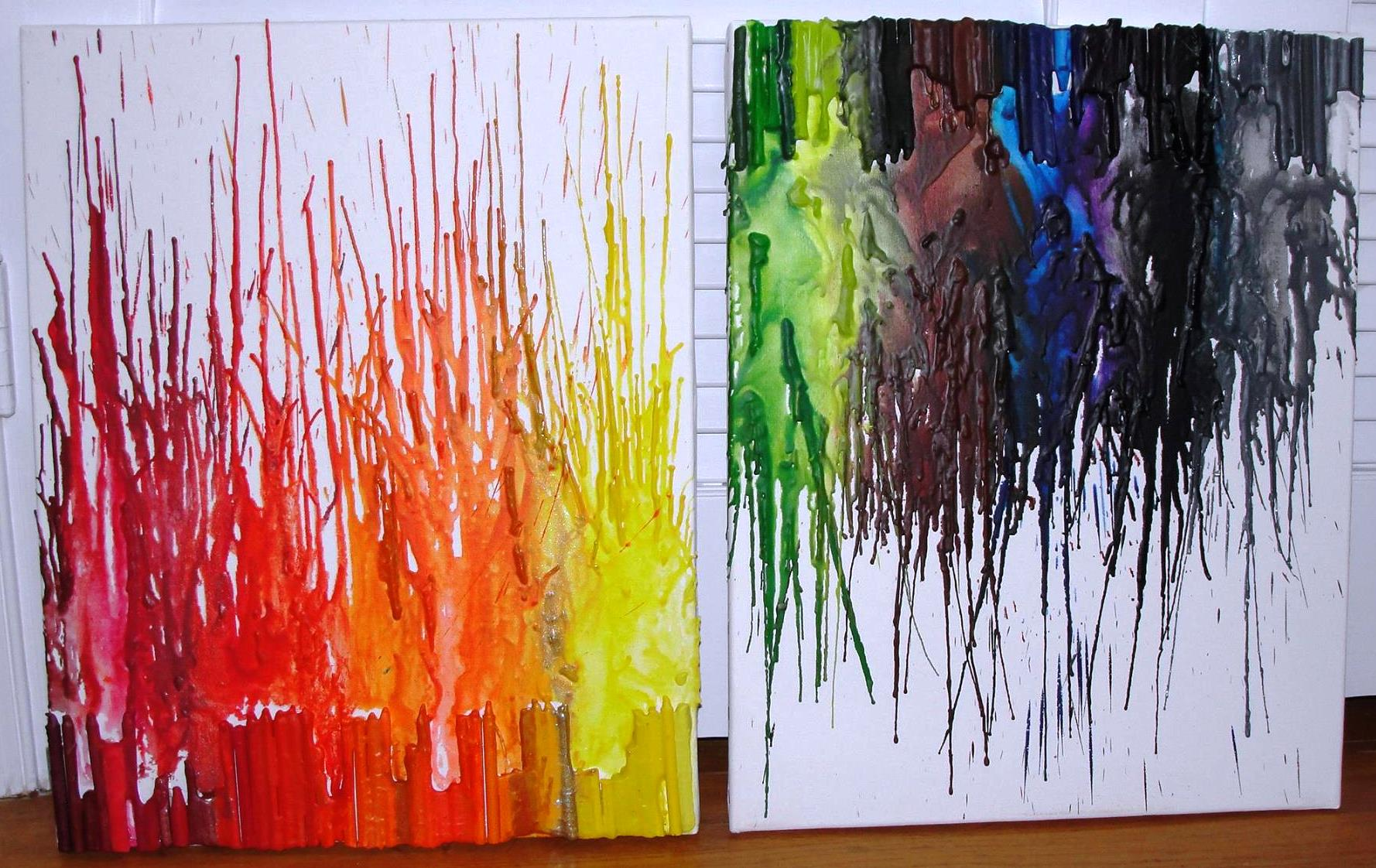 color crayon art : Vqrainbowart