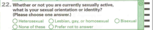 LGBT question from NHS II