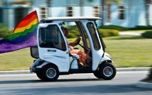 Golf Cart at a Retirement Community