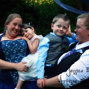 The first one is the four of us on our wedding day, Me, Ryleigh, Connor, and Laura.  Photo credit Jessica Brown of Artisan Events NW.