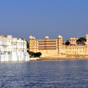 The luxurious Taj Lake Palace, in Udaipur, India