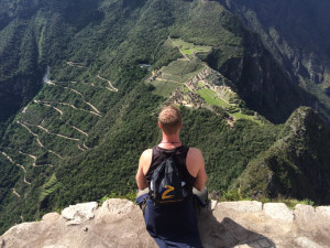 Looking out of Machu Picchu